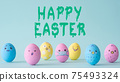 happy easter covid-19 holiday egg crowd face mask 75493324