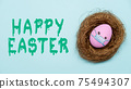 happy easter pandemic holiday egg face mask nest 75494307