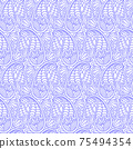 Paisley Oriental seamless pattern. Damask repeating background. Floral wallpaper. Decorative ornament for fabric, textile, wrapping paper. Indian traditional paisley pattern. 75494354