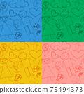 Set of seamless baby patterns. 75494373