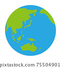 地球的插圖太陽系行星日本在中間 75504901