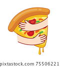 Embraces pizza icon design.  75506221