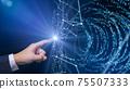 디지털 영업 재택 근무 재택 근무 IoT 의한 대도시의 디지털화 배경 이미지 이미지 75507333