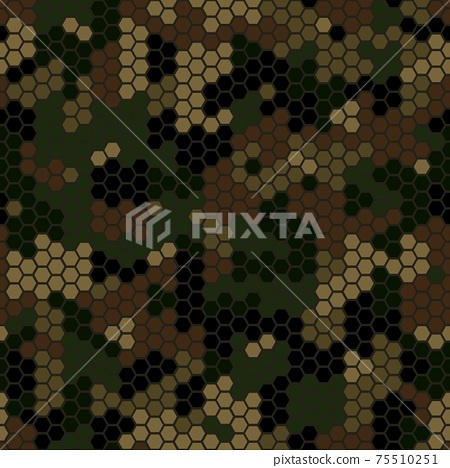 Abstract Vector Military Camouflage Background Seamless Pattern 75510251