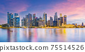 Singapore financial district skyline at Marina bay on twilight time. 75514526