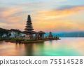 Ulun Danu Beratan Temple, Bali ,Indonesia. 75514528