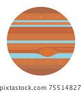木星太陽系行星的插圖 75514827