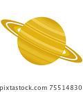 土星的插圖太陽系行星 75514830