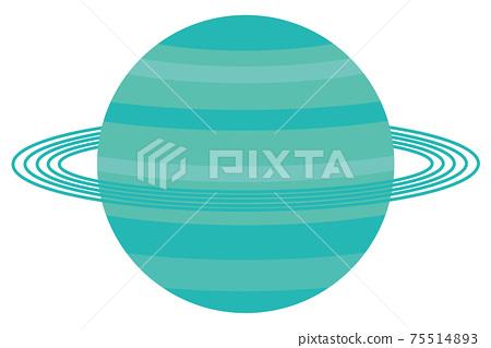 Illustration of Uranus Solar system planets 75514893