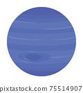 海王星太陽系行星的插圖 75514907