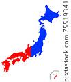 日本東西方地圖 75519341