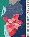 Burundi country detailed editable map 75525614