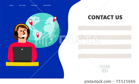Contact us template 75525666