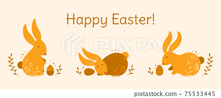 Cute Easter illustration. 75533445