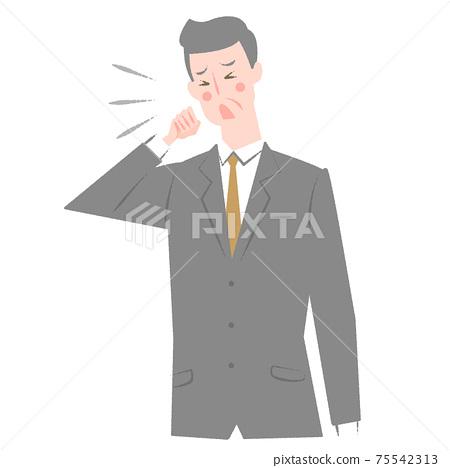 一個穿著老年西裝的男人看起來很噁心 75542313