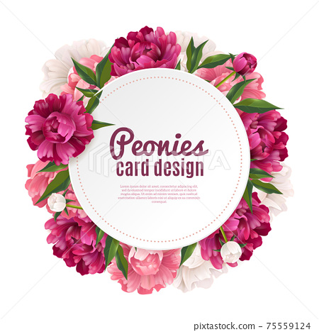 Peony Frame Card Design 75559124