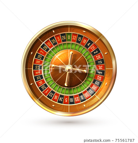 Roulette Wheel Isolated 75561787