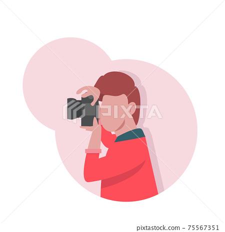 Photographer take camera Flat  Cartoon Concept 75567351