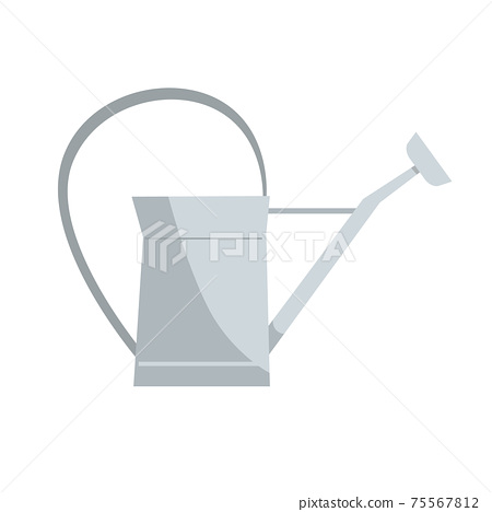 Vintage metal watering can, a classic design. Gardening tool or rustic decoration element. Vector illustration isolated on a white background 75567812