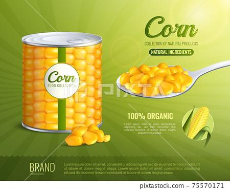 Corn Advertising Composition 75570171