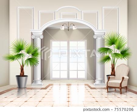 Classic Realistic Interior Design 75570206
