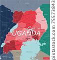 Uganda country detailed editable map 75573843