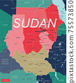 Sudan country detailed editable map 75573850