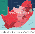South Africa country detailed editable map 75573852