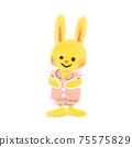 갈아을하는 토끼 아이 75575829