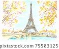 世界遺產城市景觀,法國,巴黎,埃菲爾鐵塔 75583125