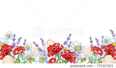 康乃馨和玫瑰花朵場 75585563