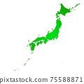 일본지도 75588871