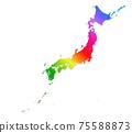 일본지도 75588873