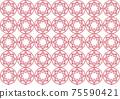 Flower motif background material 75590421