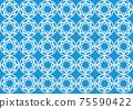 Flower motif background material 75590422