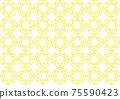 Flower motif background material 75590423