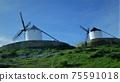 """映襯在藍天下的""""拉曼恰白色風車""""-西班牙(2) 75591018"""