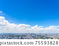 【도쿄】 롯폰기 힐즈에서 보이는 신주쿠 방면의 도시 풍경 75593828