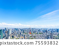 【도쿄】 롯폰기 힐즈에서 보이는 도쿄 타워 75593832