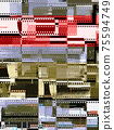 Abstract collage of celluloid film strips 75594749