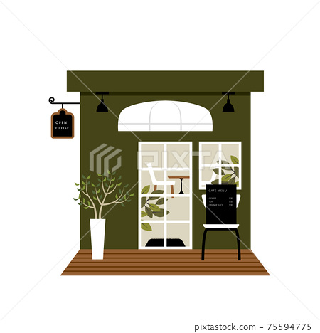 Cafe coffee shop illustration 75594775