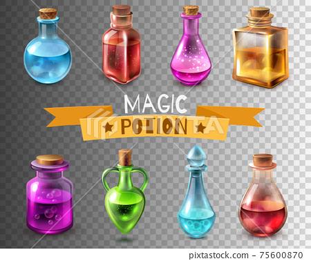 Potion Flasks Transparent Collection 75600870