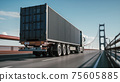 Delivery by truck. 3d illustration 75605885