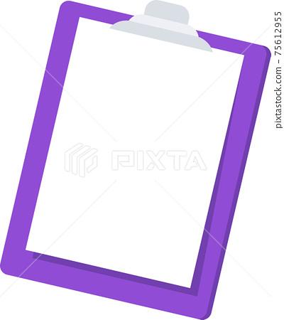 Clipboard folder icon. Stationery flat vector illustration. 75612955