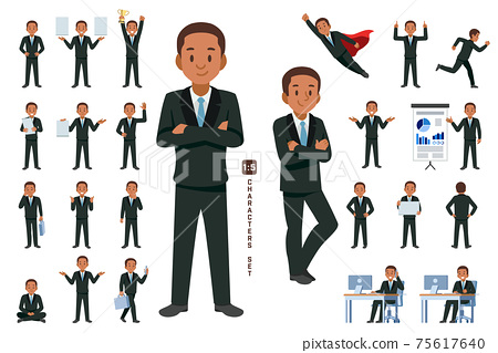 Working and general situation pose of African staff. 75617640