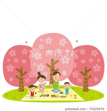 流行家庭櫻花觀賞 75620979