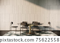 mock up modern interior background, peach room with sofa and table, minimal style, 3D render, 3D illustration 75622558