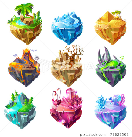 Isometric Game Islands Collection 75623502