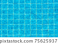 Top view swimming pool blue ripped water abstract background 75625937