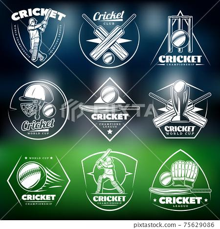 Vintage White Cricket Labels Set 75629086